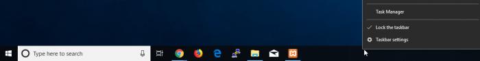 Taskbar Right Click Menu