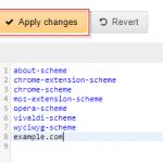 uBlock Origin options apply changes