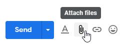 Gmail attach files icon