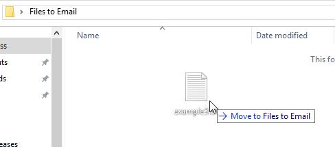 Windows 10 move files to a folder