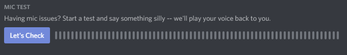 Discord Mic Test for mic not working in Discord