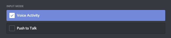 Input mode Discord mic not working