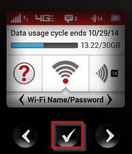 MiFi 6620L display WiFi Name/Password option