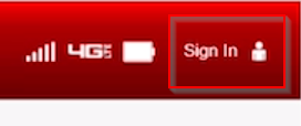 Verizon Jetpack MiFi admin page sign in button