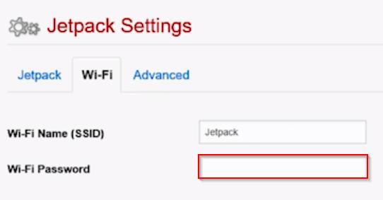 Verizon Jetpack Settings Wi-Fi Password Field
