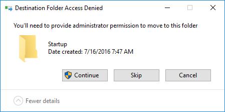 Windows 10 All Users Startup Folder Admin Prompt