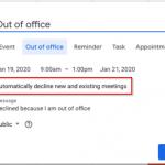 Google Calendar auto decline invites checkbox