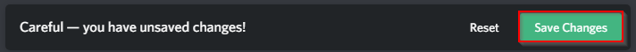 Discord Save Changes Notification