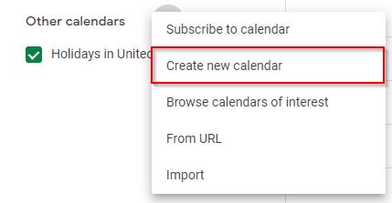 Google Calendar Add New Calendar