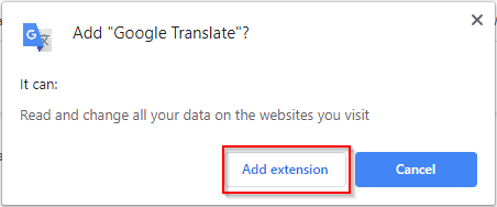 Google Webstore Add Browser Extension Chrome Confirmation
