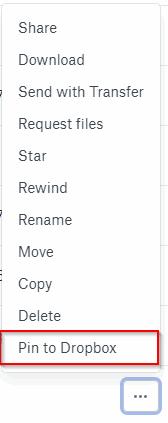 Pin Folder to Dropbox
