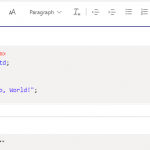 Microsoft Teams Code Snippet in Message Box