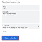 Google Calendar Create New Calendar Form