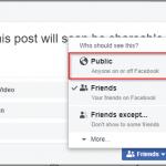 Change Facebook Post Audience Settings