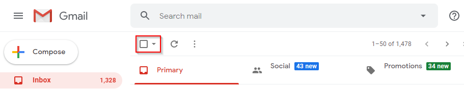 Gmail Select Multiple Checkbox