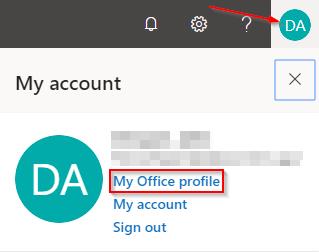 Microsoft Delve My Office Profile