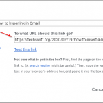 Gmail Insert Text Hyperlink