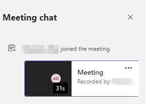 Microsoft Teams Chat With Recording in it