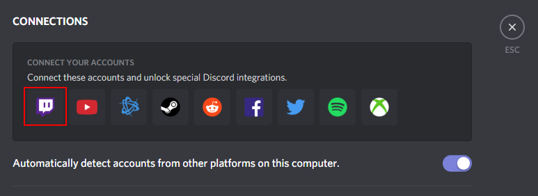 Discord Connect Twitch Account Icon