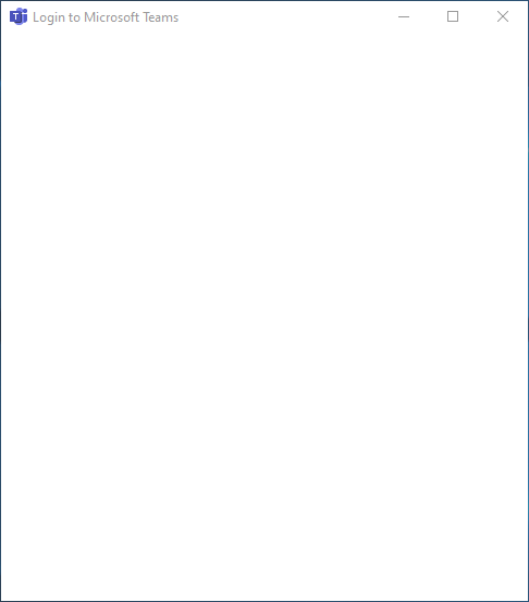 Microsoft Teams Blank Login Screen