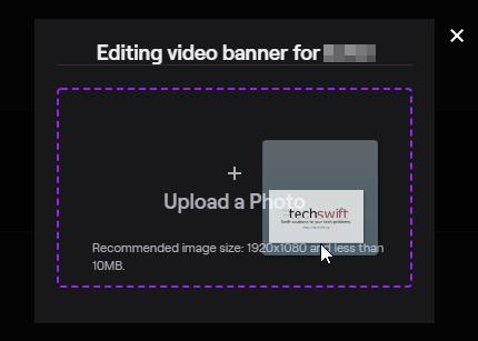 Upload Twitch Offline Screen Image