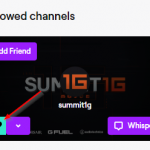 Twitch Unfollow Channel Button