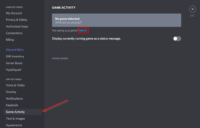 Discord Add Game Link