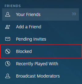 Steam Blocked Friends Link