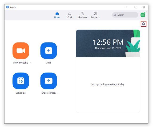 Zoom App Setting Icon Windows 10