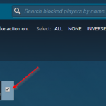 Steam Unblock User Button