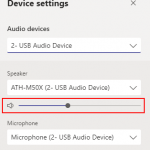 Microsoft Teams Adjust Volume Sliders