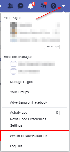 Facebook Switch to New Facebook