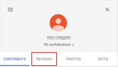 Google Maps My Reviews Button
