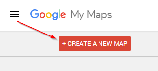Google My Maps Create a New Map Button