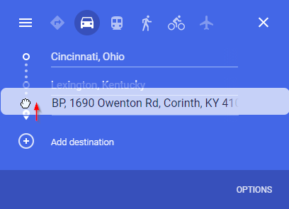 Google Maps Drag Stop to Middle of Route