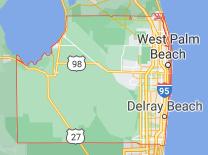 Google Maps Palm Beach County Line