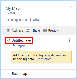 Google My Maps Rename Layer Link