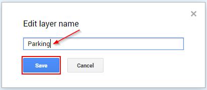 Google My Maps Save Layer Name