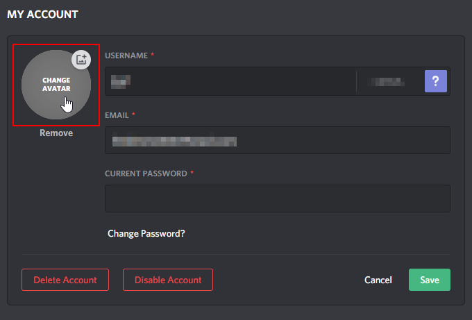 Discord Change Profile Picture