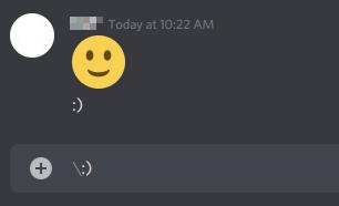 Discord Disable Automatic Emojis with Shortcut Key Backslash