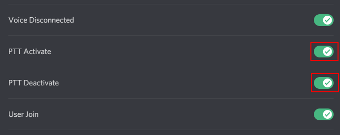 Discord Disable / Enable Push to Talk Sound
