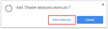 Chrome Add Extensions Confirmation Box