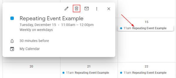 Google Calendar Delete Recurring Event