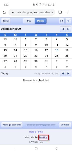 Google Calendar Mobile Desktop View Link