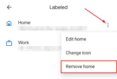 Google Maps Mobile App Remove Label