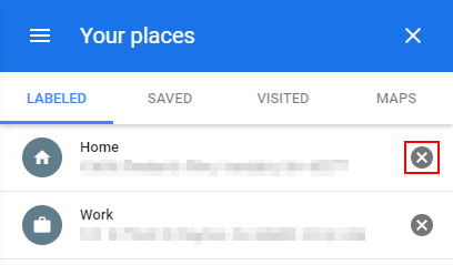 Google Maps Remove Home Label