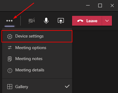 Microsoft Teams Device Settings During Meeting