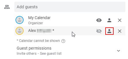 Google Calendar Mark Guest as Optional