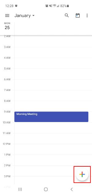 Google Calendar Mobile App Create New Event Button