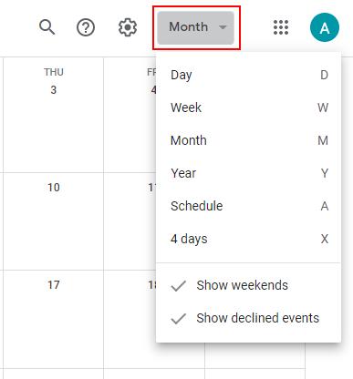 Google Calendar View Button